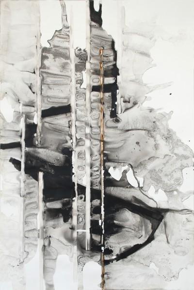 2014, Acryl, Papier, 118 x 85 cm