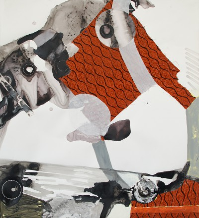 2014, Acryl,Stoff, Papier, 125 x120 cm